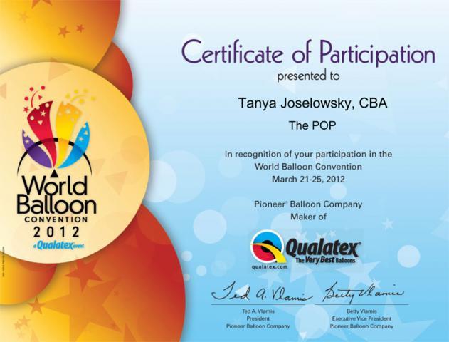 WBC Certificate